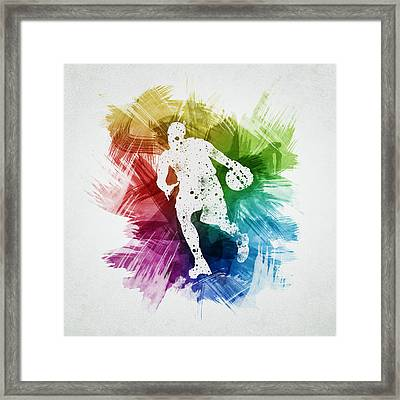 Basketball Player Art 06 Framed Print