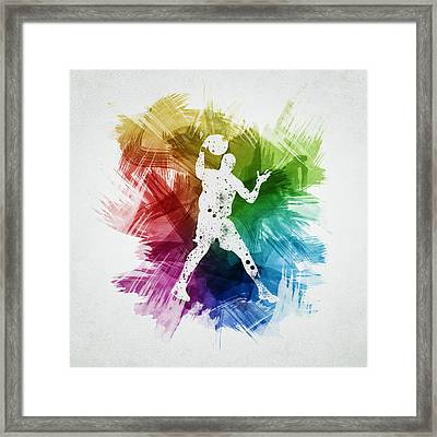Basketball Player Art 11 Framed Print by Aged Pixel