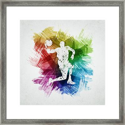 Basketball Player Art 12 Framed Print