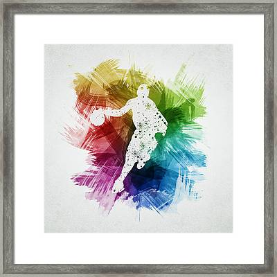 Basketball Player Art 14 Framed Print