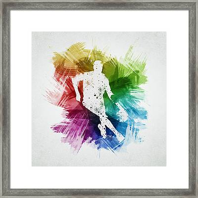 Basketball Player Art 15 Framed Print