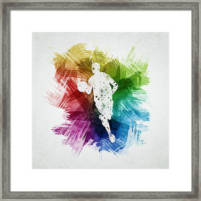 Basketball Player Art 17 Framed Print