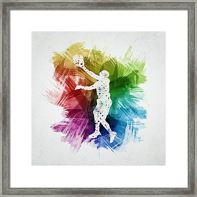 Basketball Player Art 23 Framed Print