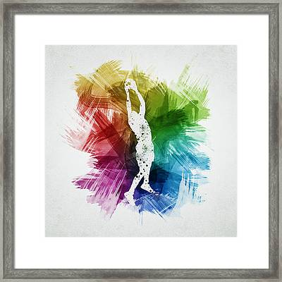 Basketball Player Art 25 Framed Print