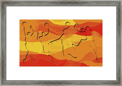 Basketball Players Abstract Framed Print