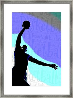 Basketball Poster Framed Print by Bill Cannon