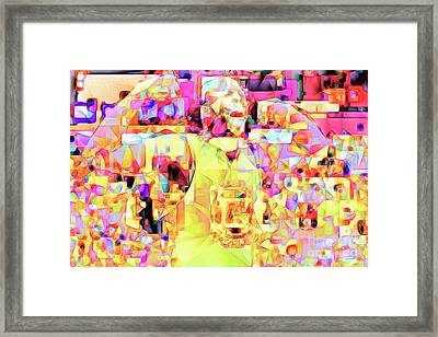 Basketball Power Flex In Abstract Cubism 20170328 Framed Print by Wingsdomain Art and Photography