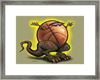 Basketball Saurus Rex Framed Print