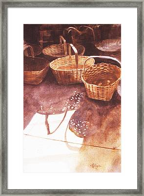 Baskets In The Sun Framed Print