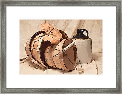 Baskets With Crock I Framed Print by Tom Mc Nemar