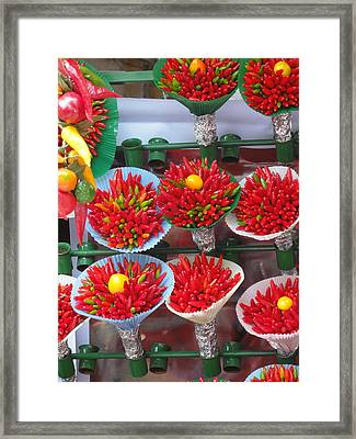 Framed Print featuring the pyrography Baskets by Yury Bashkin