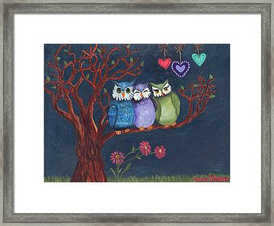 Basking In The Midnight Sparkle Framed Print