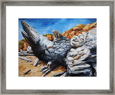 Basking In The Sun Framed Print