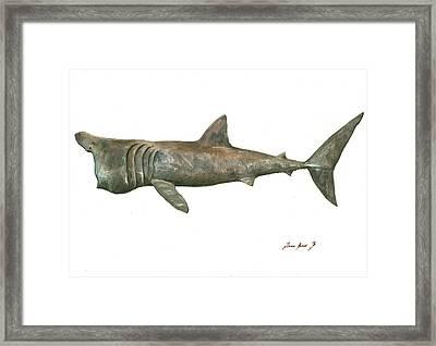 Basking Shark Framed Print