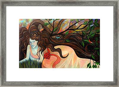 Basking With Birds Framed Print by Monica Furlow