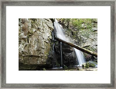 Baskins Creek Falls Framed Print by James Elam