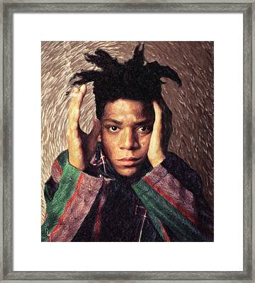 Basquiat Framed Print by Taylan Apukovska