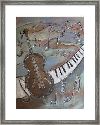 Bass And  Keys Framed Print