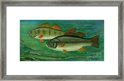 Bass And Perch Framed Print by Anna Folkartanna Maciejewska-Dyba