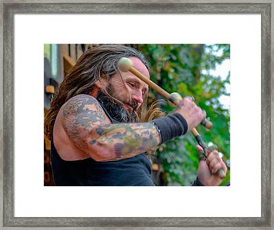 Bass Drum Framed Print