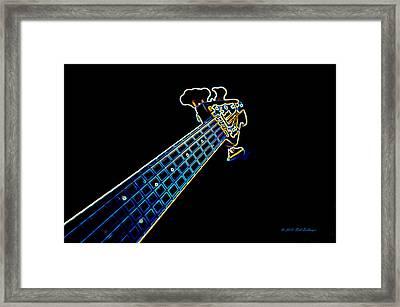 Bass Guitar Framed Print by Bill