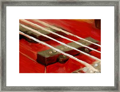 Bass Guitar Framed Print by Jeff Montgomery