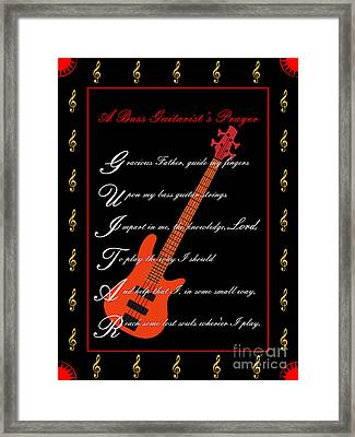 Bass Guitar_1 Framed Print by Joe Greenidge