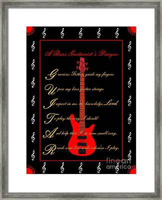 Bass Guitar_2 Framed Print by Joe Greenidge