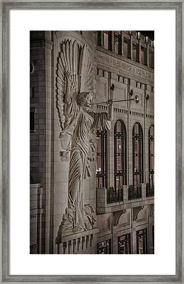 Bass Hall Angelic Herald Framed Print by Stephen Stookey