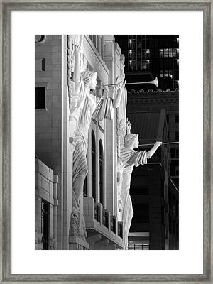 Bass Hall Fort Worth 520 Bw Framed Print