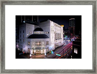 Bass Hall Resplendence Framed Print