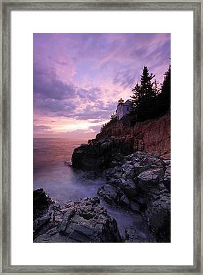 Bass Harbor Head Light Framed Print by Juergen Roth