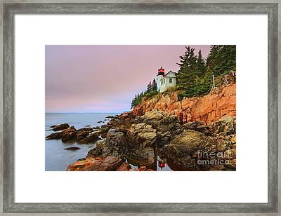Bass Harbor Head Light - Maine Framed Print by Henk Meijer Photography