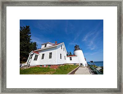 Bass Harbor Head Light Maine Framed Print by Wayne Moran