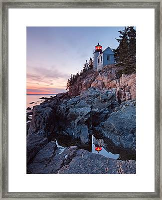 Bass Harbor Head Light Framed Print by Patrick Downey
