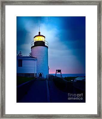 Bass Harbor Head Lighthouse 3085 Framed Print