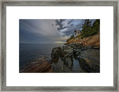Bass Harbor Head Lighthouse At Dawn Framed Print by Rick Berk