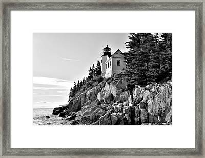 Bass Harbor Head Lighthouse - Maine Framed Print