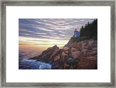 Bass Harbor Light Framed Print by Bruce Dumas