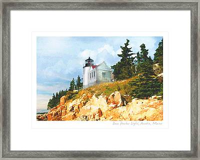 Bass Harbor Light Framed Print by Ernestine Grindal