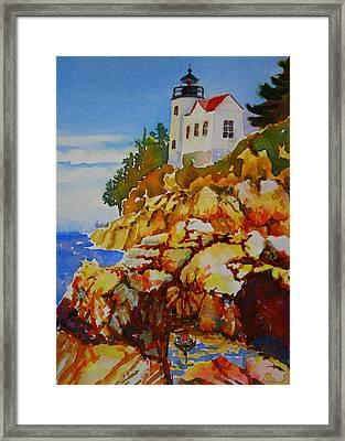 Bass Harbor Light House Framed Print