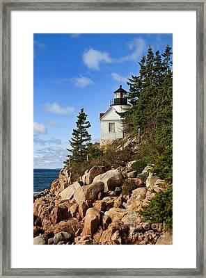 Bass Harbor Light Framed Print by John Greim