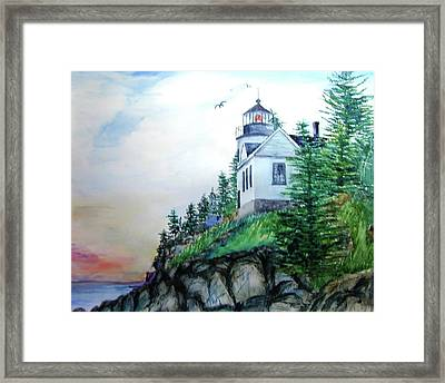 Bass Harbor Light Framed Print