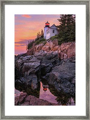Framed Print featuring the photograph Bass Harbor Lighthouse by Expressive Landscapes Fine Art Photography by Thom