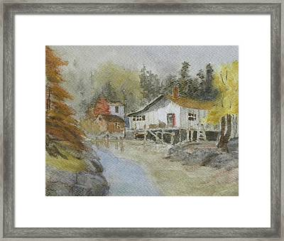 Bass Harbor Retreat Framed Print