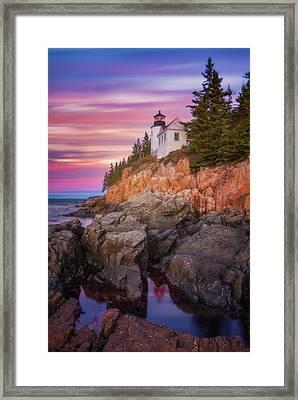 Bass Harbor Sunrise Framed Print