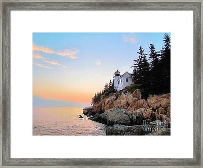 Bass Harbor Sunset II Framed Print