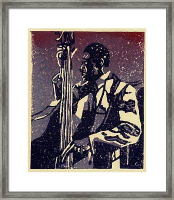 Bass Framed Print