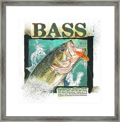 Framed Print featuring the painting Bass by John Dyess