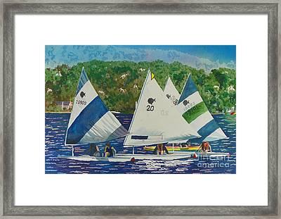 Bass Lake Races  Framed Print